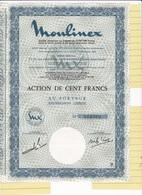 Th3MOULINEX : Action De 100 Frs1973  (23) - Actions & Titres