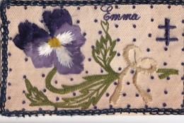 PRENON EMMA + VIOLLETTE + CROIX DE LORRAINE        CARTE BRODEE - Ricamate