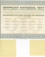 Th3EMPRUNT : PME ARTISANAT - Obligation De 1000 Frs1977  (24) - Actions & Titres