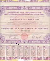 Th3CONSTRUCTION NAVALE : Obligation De 5000 Frs1948  (25) - Actions & Titres