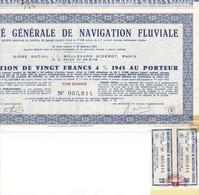 Th3NAVIGATION : FLUVIALE - Obligation De 20 Frs1945  (26) - Actions & Titres