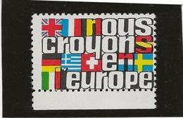 """VIGNETTE NEUVE THEME """" NOUS CROYONS EN L'EUROPE """" - Commemorative Labels"""