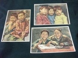 LOTTO 6 CARTOLINE FOLKLORE COSTUME CINA CHINA ? ASIA  MISSIONI SAVERIANO PARMA BAMBINI E ANZIANI IN VARIE SCENE - Missioni