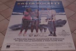 AFFICHE CINEMA ORIGINALE FILM RASTA ROCKETT TURTELTAUB LEON CANDY 1994 TBE JEUX OLYMPIQUES BOBSLEIGH - Affiches & Posters