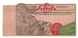 """1907 """"ETICHETTE IN RILIEVO SELECTA - TORINO  """" ETICHETTA  ORIG. - Vecchi Documenti"""