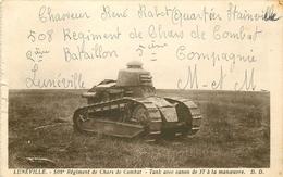 WW 54 LUNEVILLE. 508° Régiment De Chars De Combat Et Tank Canon à La Manoeuvre. Bord Gauche Dentelé - Materiale