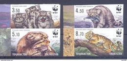 2017. Tajikistan, WWF, Wild Cat Manul, 4v IMPERFORATED, Mint/** - Tadschikistan