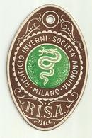 """1908 """"RISIFICIO INVERNI-SOCIETA' ANONIMA-MILANO  """" ETICHETTA  ORIG. - Vecchi Documenti"""