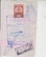 Saudi Arabia Revenue Stamps On Document (A-607) - Saudi Arabia