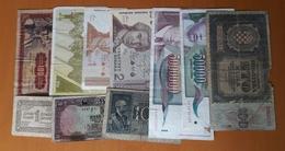 10 Different Used Banknotes LOT 1 Yugoslavia Slovenia Croatia Italy Turkey - Monnaies & Billets