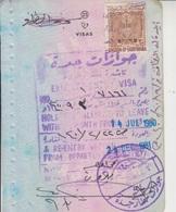 Saudi Arabia Revenue Stamps On Document (A-609) - Saudi Arabia