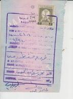 Saudi Arabia Revenue Stamps On Document (A-611) - Saudi Arabia
