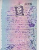 Saudi Arabia Revenue Stamps On Document (A-612) - Saudi Arabia