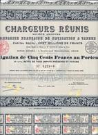 Th3NAVIGATION : CHARGEURS REUNIS - Obligation De 500 Frs1921  (28) - Actions & Titres