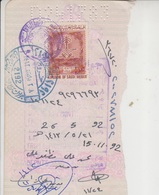 Saudi Arabia Revenue Stamps On Document (A-614) - Saudi Arabia