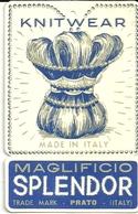"""1913 """"MAGLIFICIO SPLENDOR-PRATO"""" ETICHETTA  ORIG. - Vecchi Documenti"""
