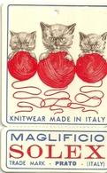 """1914 """"MAGLIFICIO SOLEX-PRATO"""" ETICHETTA  ORIG. - Vecchi Documenti"""