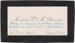 Vieux Papier : Carte De  Visite : Orne à Flers  Rue De  Belfort , Mr  Barrabé - Cartes De Visite