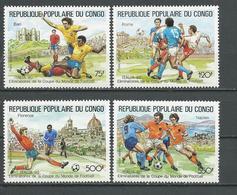 CONGO Scott C392-C395 Yvert PA389-PA392 (4) ** Cote 11,60 $ 1989 - Congo - Brazzaville