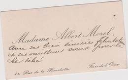 Vieux Papier : Carte De  Visite : Orne à Flers  Rue De La  Planchette , Mme  Morel - Cartes De Visite