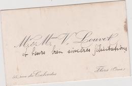 Vieux Papier : Carte De  Visite : Orne à Flers  Rue Du  Calvados  ; Mr  LOUVEL - Cartes De Visite