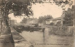 34 - PÉZENAS - INONDATION DU 26 SEPTEMBRE 1907 - LA PASSERELLE DES CALQUIÈRES HAUTES, ROMPUE - Pezenas