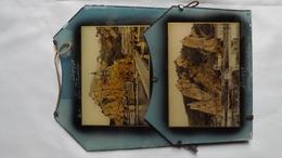 Très Ancien PORTE LETTRES EN VERRE Incrusté De Deux Cartes Postales De La Ville De DINANT.    (très Rare) - Verre & Cristal