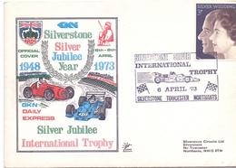 INTERNATIONAL TROPHY SILVERSTONE 1973 FDC COVER (NOV180203) - Passenger Cars