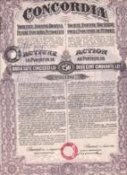 Th3PETROLE : CONCORDIA - Action De 250 Lei1921  (32) - Actions & Titres