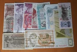 10 Different Used Banknotes LOT 2 Yugoslavia Slovenia Croatia Italy China Germany Ukraine - Monnaies & Billets