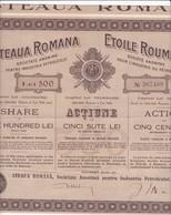 Th3LOT (8 Titres) : PETROLE : ETOILE ROUMAINE - Act. 500 LeiDates Différentes  (33) - Actions & Titres