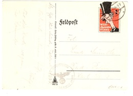 "Allemagne/Reich Carte Feldpost  Propagande ""Wert Keinen Pfennig"" (caricature Chamberlain) De 1940. B/TB. A Saisir! - Allemagne"