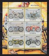 Angola Luanda 2017 Motorcycles. Tine MNH 2 - Angola