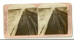 """1923 """"CANALE DI CORINTO-PASSAGGIO DI PIROSCAFO"""" CARTOLINA ORIGINALE - Cartoline Stereoscopiche"""
