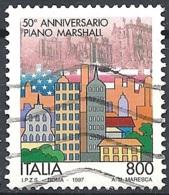 Italia, 1997 Piano Marshall, 800L # Sassone 2318 - Michel 2538 - Scott 2181  USATO - 1946-.. République