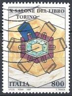 Italia, 1997 X° Salone Del Libro, 800L # Sassone 2283 - Michel 2503 - Scott 2146  USATO - 1946-.. République