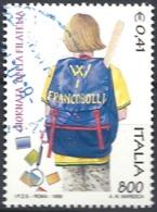 Italia, 1999  Giornata Della Filatelia, 800L # Sassone 2427 - Michel 2647 - Scott 2306  USATO - 1946-.. République
