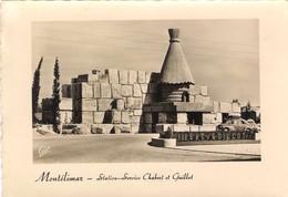 CPSM. MONTELIMAR. STATION SERVICE CHABERT ET GUILLOT. VOITURE ANCIENNE. 1956. - Voitures De Tourisme