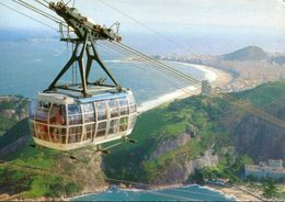 A VIEW OF THE CABLE CAR RIO DE JANEIRO  BRASIL TURISTICO TARJETA POSTAL COLOR CIRCA 1970 -LILHU - Rio De Janeiro
