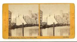 """1925 """"ROTTERDAM-LE VIEUX PORT"""" CARTOLINA ORIGINALE - Cartoline Stereoscopiche"""