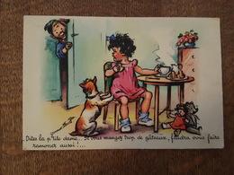 Illustrateur Germaine Bouret - Dites La Petite Dame... Chien, Poupée, Ours Peluche, Teddy Bear - MD Paris Série 1213 5/1 - Bouret, Germaine