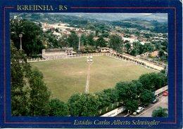 IGREJINHA RS ESTADIO CARLOS ALBERTO SCWINGLER BRASIL TURISTICO TARJETA POSTAL COLOR CIRCA 1970 -LILHU - Brazilië