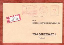 Einschreiben Reco, Absenderfreistempel, Genossenschaftsbank, 280 Pfg, Oberteuringen 1984 (61169) - BRD