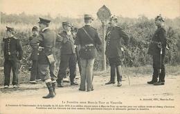 CP FRONTIERE ENTRE MARS-LA-TOUR ET VIONVILLE  ANNIVERSAIRE BATAILLE AOUT 1870 - CASQUE A POINTE - Douane