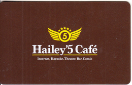 """JAPAN - Hailey""""5 Cafe, Member Card, Used - Autres Collections"""