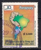 Paraguay 2001 - The 10th Anniversary Of Asuncion Treaty - Paraguay