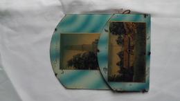 Très Ancien PORTE LETTRES EN VERRE Incrusté De Deux Cartes Postales Du Camps De BOURG-LEOPOLD.    (très Rare) - Verre & Cristal