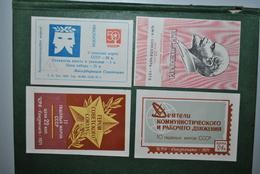Russie/URSS 1971/72 Vignettes Lénine/Parti Communiste - 1923-1991 URSS