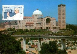 BASILICA NOVA N SRA APARECIDA SP BRASIL TURISTICO TARJETA POSTAL COLOR CIRCA 1970 WITH STAMP POPE -LILHU - São Paulo