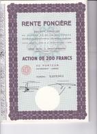Th3LOT (7 Titres) : RENTE FONCIERE : Action De 200 Frs  (34 B) - Actions & Titres